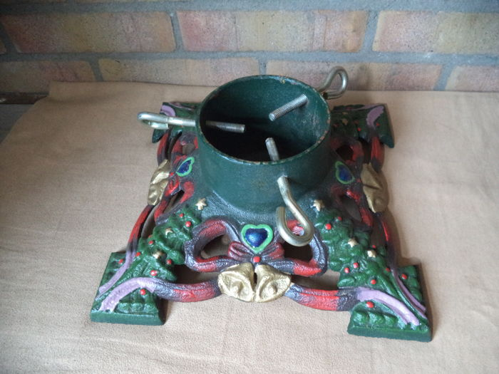 art deco christmas tree stand - 1 - Iron (cast/wrought)