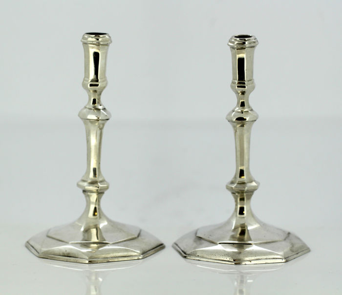 Vintage pair of candlesticks - .925 prata - RS, London - Reino Unido - 1987