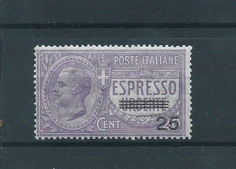 Italy Kingdom 1917 - Urgent express 25 on 40 cents, violet, not issued - Sassone N. 3