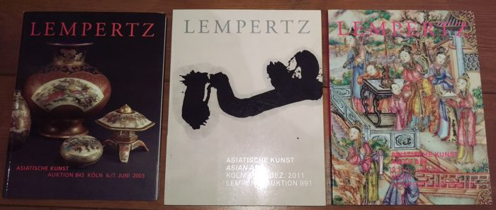 Three comprehensive Asian art auction catalogues from Lempertz Auction, Cologne - Germany - 2003/2011/2011