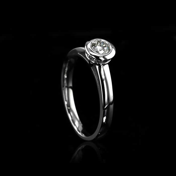 18 karaat Witgoud - Ring - 0.20 ct Diamant - Diamant