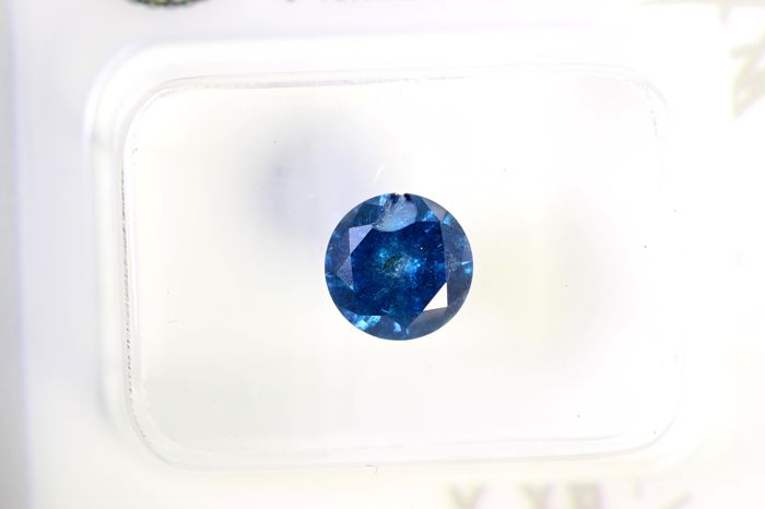 * NO RESERVE PRICE * - AIG Antwerp Sealed - Fancy Deep Blue Diamond (Colour-Treated) - 0.89 ct