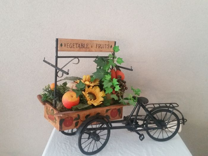 Unknown - Scale model Fruit cart Cargo bike Wood and Iron - Cargo bike - 1990