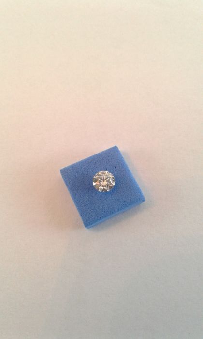 1 pcs Diamant - 0.50 ct - Briljant - D (kleurloos) - IF (intern zuiver)