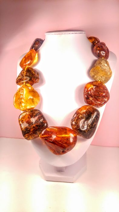 Vintage 100% Italian ,,Ambra Grezza,, style  Baltic Amber necklace, 170 grams