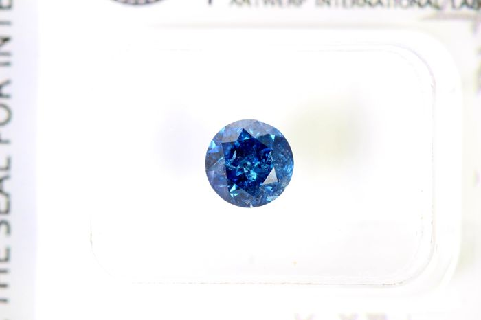 AIG Antwerp Sealed - Fancy Deep Blue Diamond (Colour Treated) - 1.01 ct
