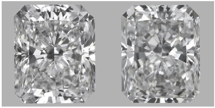 Pair - Radiant Cut 1.13ct total D VVS1 & E IF GIA - #3006-3007