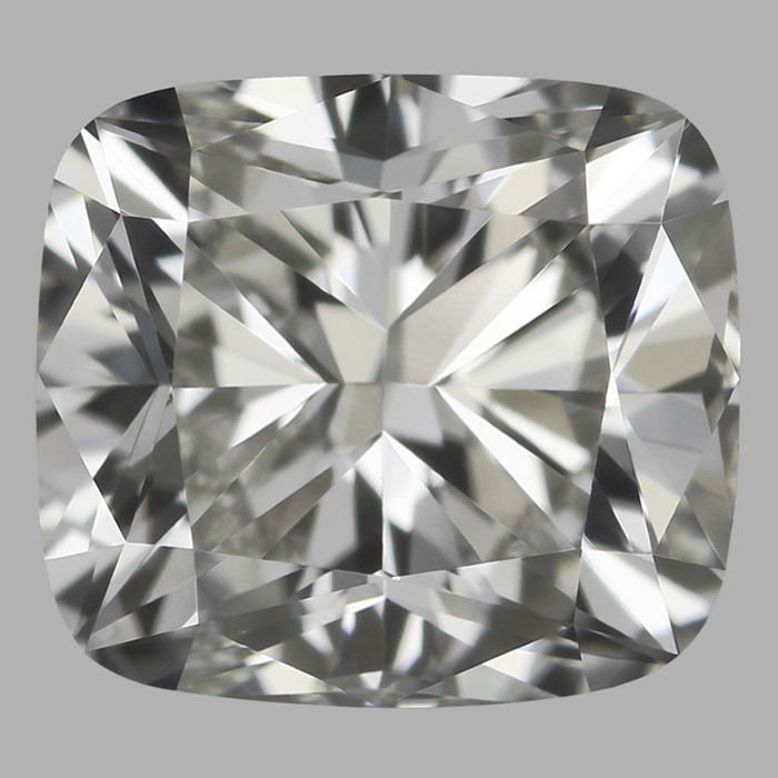 1 pcs Diamant - 0.60 ct - Cushion - J - VVS1