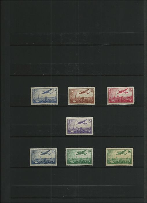 France - Complete airmail series - Yvert 8/14