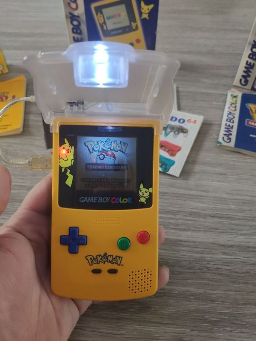 Nintendo Gameboy Color Pokemon Special Edition With Two Pokemon Games And Light Catawiki