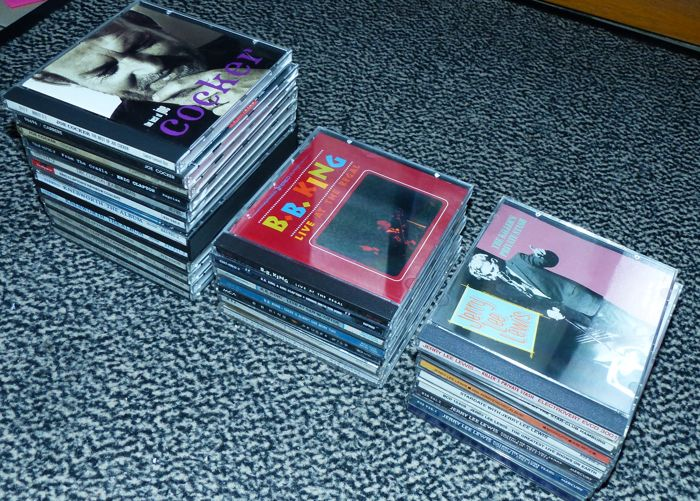 Collection of 25 blues, jazz, rock CD's
