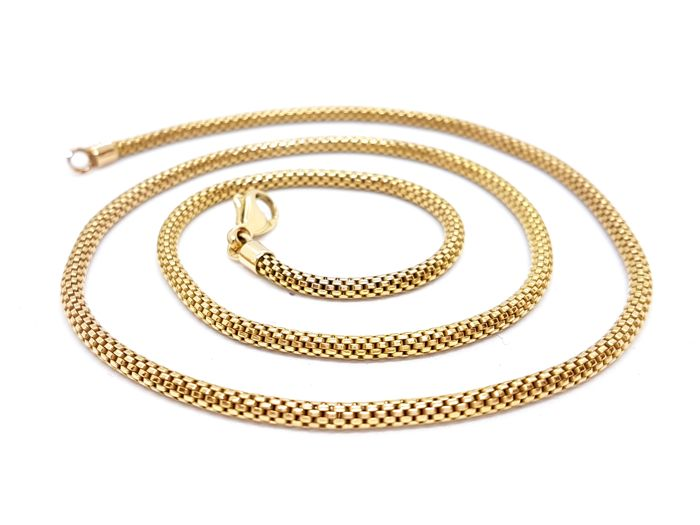Necklace - Round links - 18 kt yellow gold - Length: 50 cm