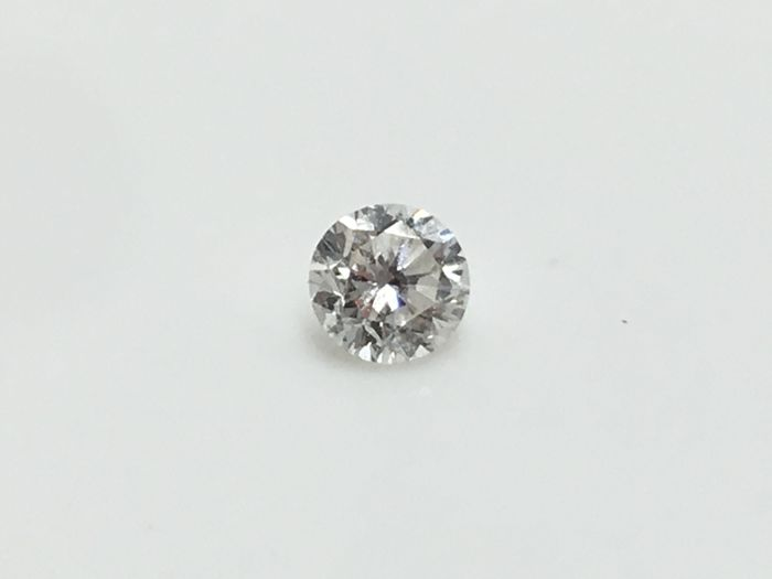 Brilliant cut diamond 0.17 ct RW G SI2 with HRD certificate without reserve price