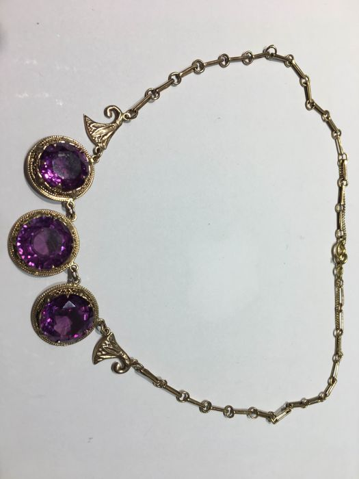 Necklace - Gold - Amethyst