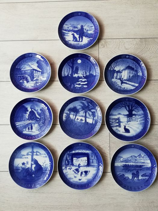 Royal Copenhagen - A collection of 10 Christmas plates