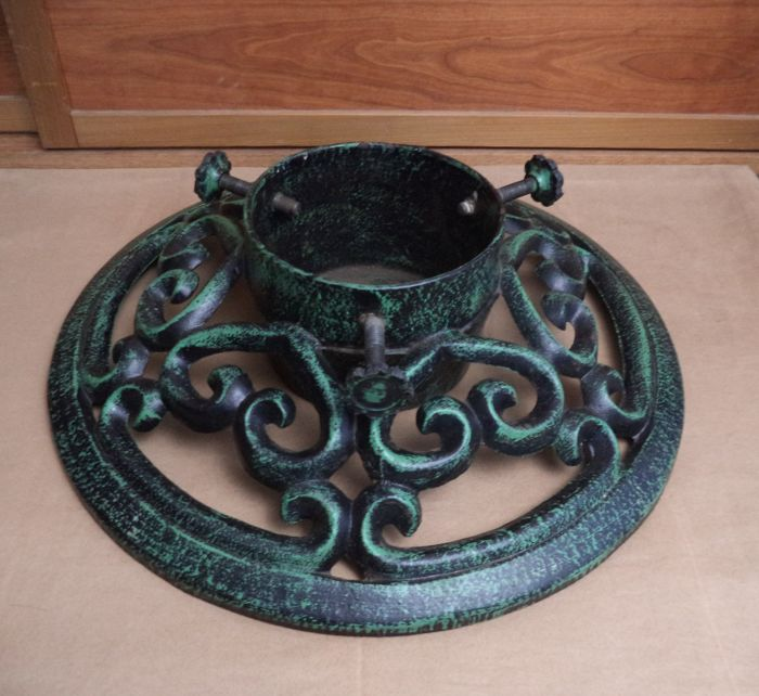 Large Cast Iron Christmas Tree Stand Iron Cast Forged Art