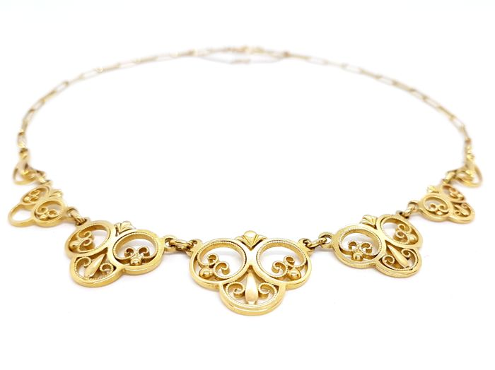 Necklace - Filigree - 18 kt yellow gold - Length: 40 cm