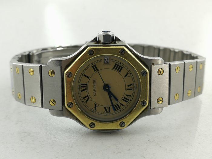 Cartier - Santos Octagon - Ref. 187903 - Women - 1990-1999