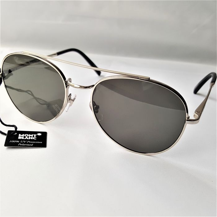 Montblanc - Aviator Polarized Palladium ZEISS - New - 2019 - Made in Italy Zonnebril