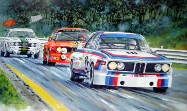 Impression fine art - BMW 3.0 CSL - Quester/Hezemans #10  Franchorchamps - 1973
