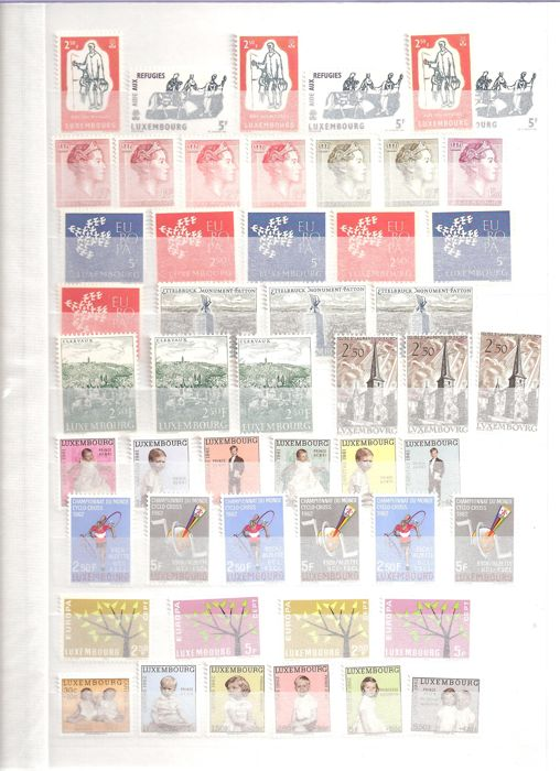 Luxembourg 1960/1986 - Collection stamps