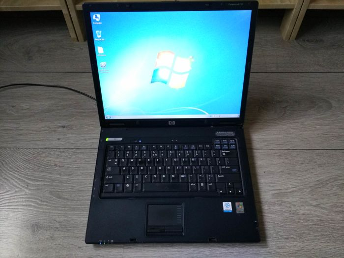 HP nx6110 notebook - Intel Celeron 1.4Ghz CPU, 512MB RAM, 40GB HDD, DVD-RW, Windows 7 - with original charger
