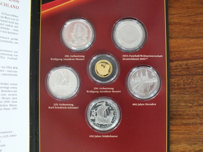 Allemagne 5 X 10 Euro 2006 Goldmedaille Argent Or Catawiki