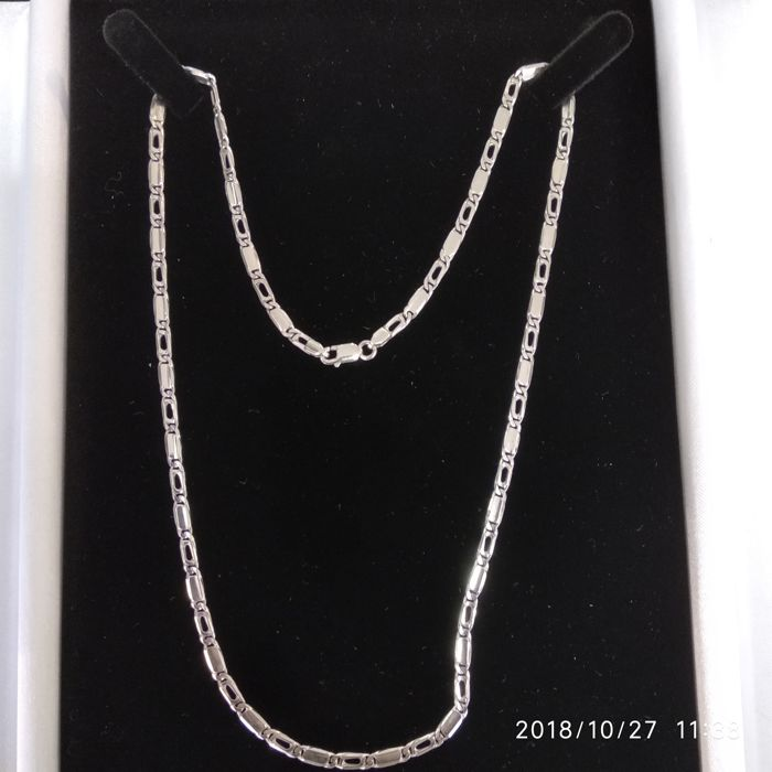 18ct. White Gold neckchain, length: 52 cm