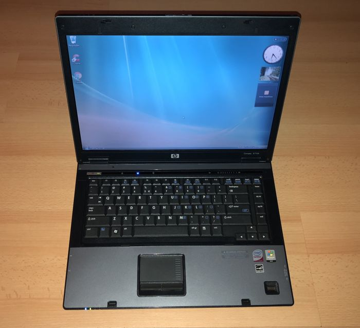 HP Compaq 6710b laptop - Intel Core Duo 2 T8100 - 2GB RAM - 150GB HD - Windows Vista Business - with charger