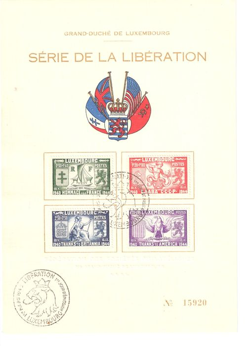 Luxembourg 1945/1982 - Cards-Envelopes-FDC