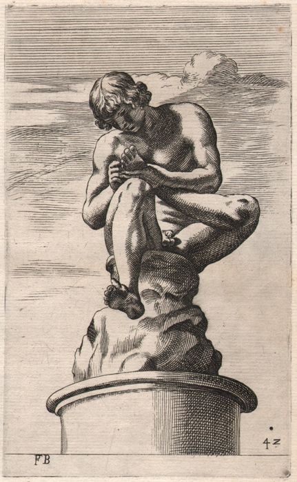 Le Bourguignon  (1594-1649) - The Spinario - Early impression