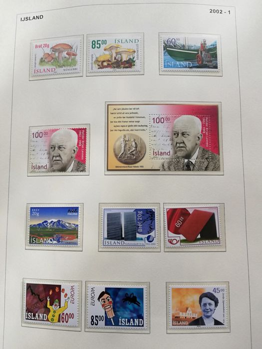 Iceland 2002/2013 - beautiful collection in a folder with album pages - Michel between no. 1000 and 1384