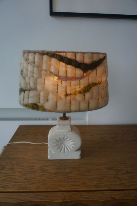 unknown - Table lamp - 1 brutalist lamp of 1