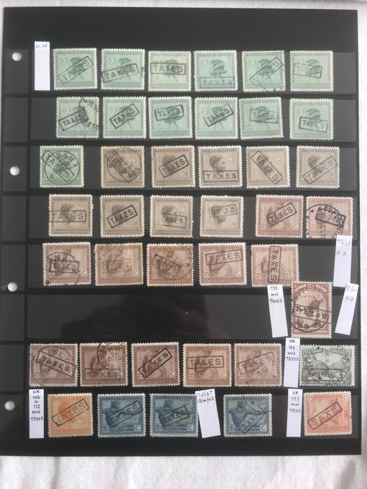 Belgian Congo 1938/1938 - Lot postage due stamps issue VLOORS - OBP / COB TX63-65