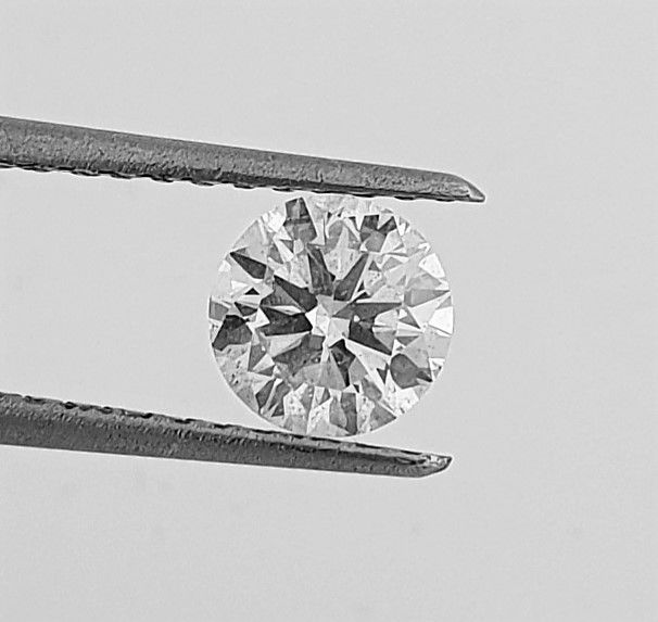 Diamant - 0.97 ct - Brillant - F - VS2