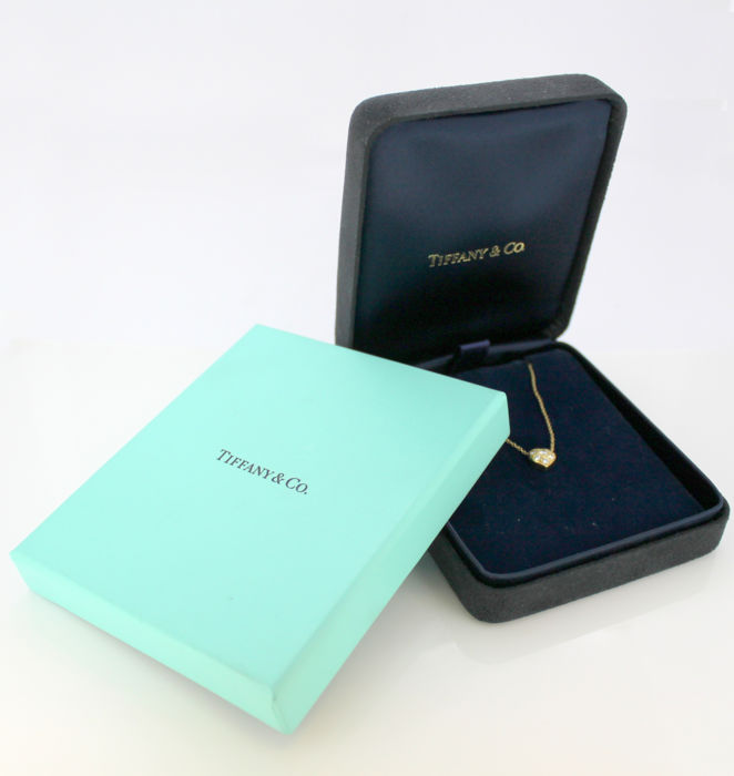 Tiffany & Co Oro - Collana a ciondolo cuore 18k con diamanti