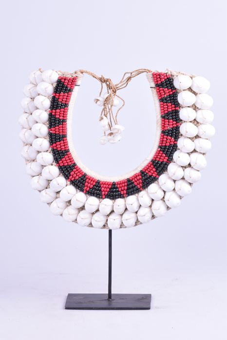Shells necklace on standard in Papua-style - Indonesia