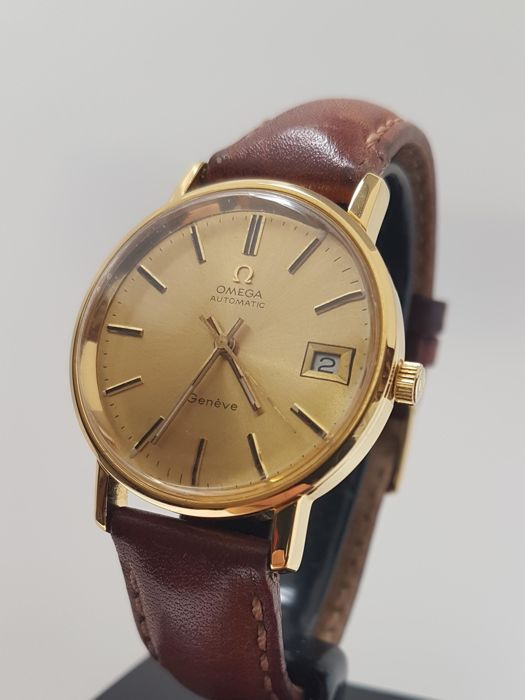 Omega - Automatic Geneve - 18K gold plated  - Men - 1980-1989