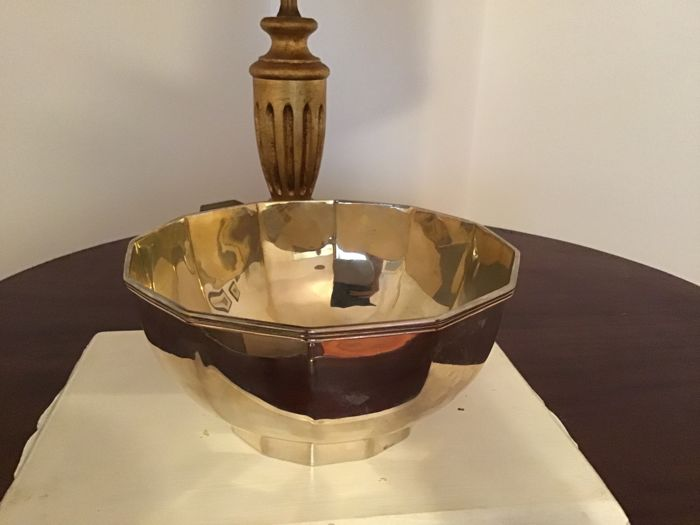 Centrepiece/Bowl in silver 800 - Italy - 1950-1999