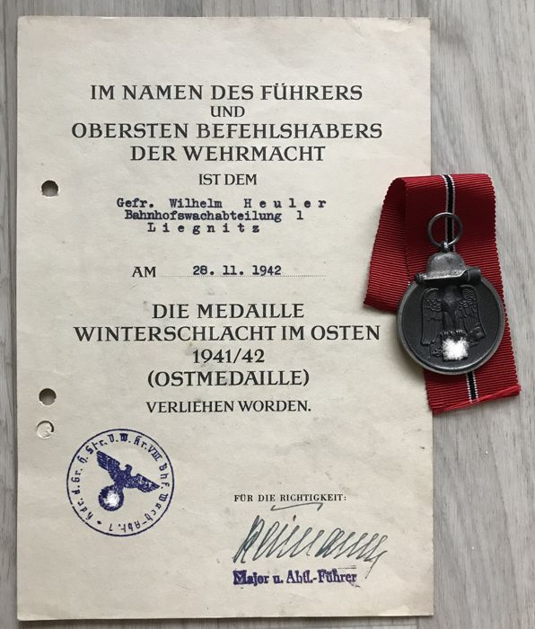 Germany - Document, Medal