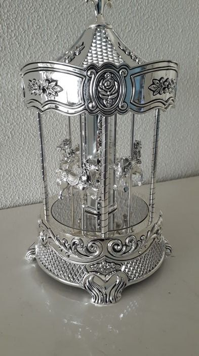 Caroussel with music box - Silverplate - Netherlands - 2000