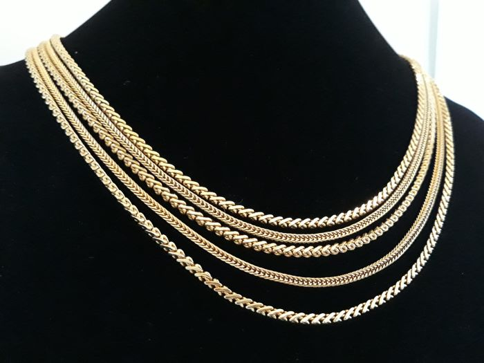Grossé -  statement woven chain waterfall necklace  Germany 1964 - Vintage