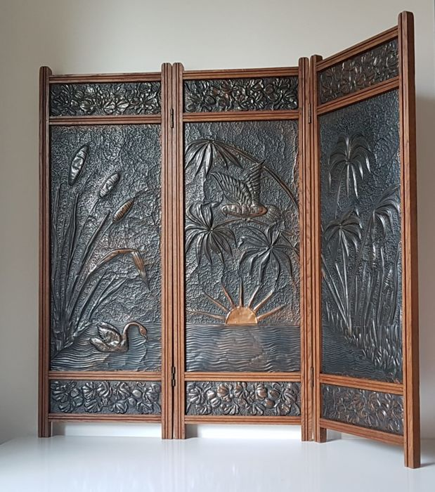Room divider / folding screen Art Nouveau