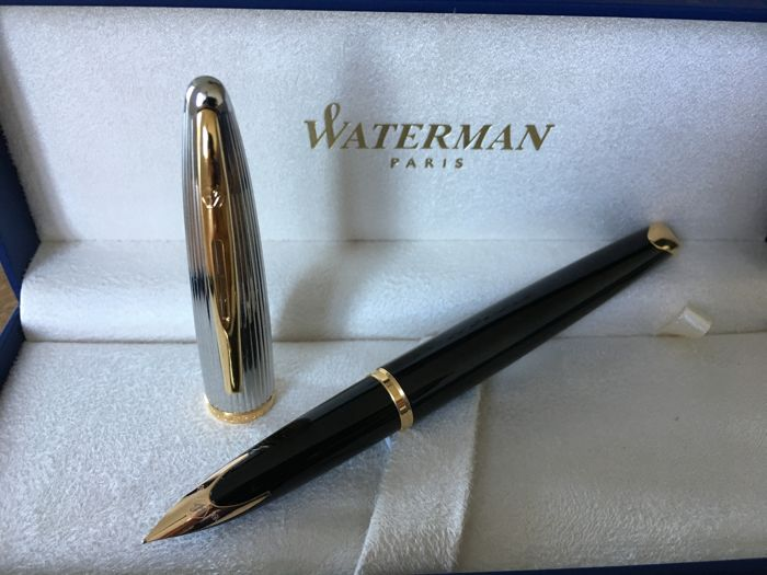 Waterman - Carene fountain pen silver black