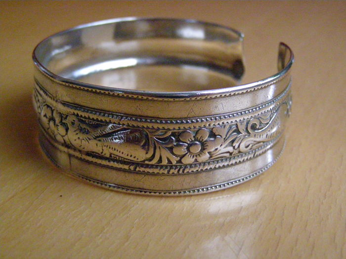 Bendable Silver Bracelet - Libya - Middle or Second half of the 20th century