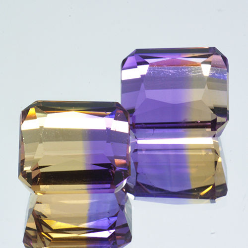 2 Ametrine - 10.24 ct. - No Reserve Price