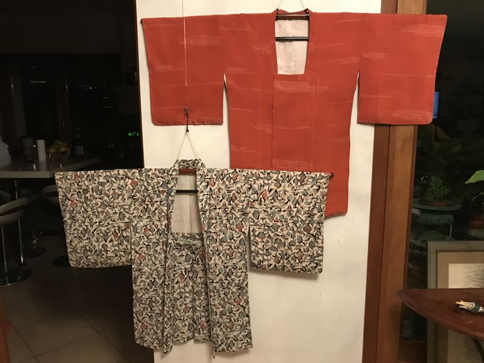 Vintage Silk Haori 羽織 & Michiyuki 道行 - Japan - First Half of 20th Century