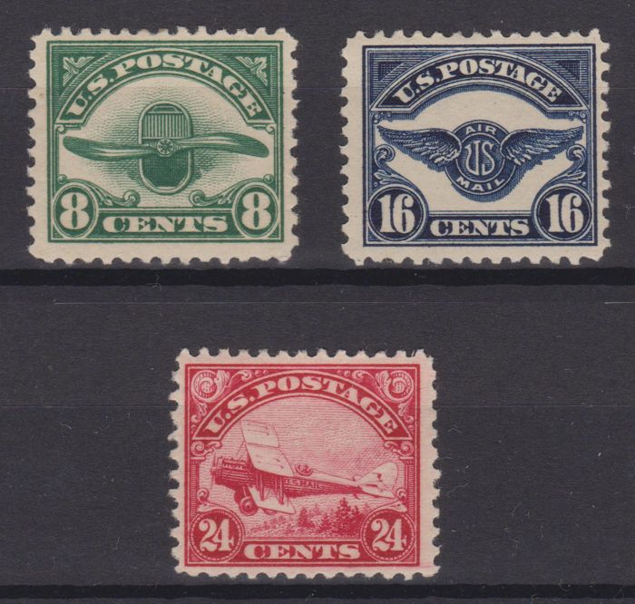 United States of American 1923 - Night-time air service complete series - Unificato A4/A5/A6