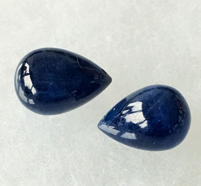 Sapphire 24.37 ct. total 2 pieces