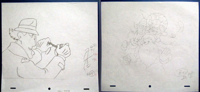 Inspecteur Gadget - x2 animation production drawings - Other - (1983/1986)